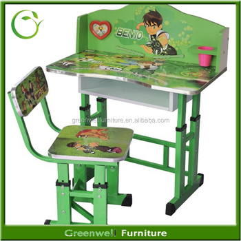 Etonnant Cartoon Picture Eco Friendly Children/kids Study Room Furniture Set