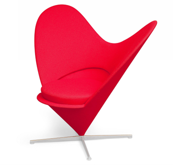Miniature Heart Verner Sleeping Heart Shaped Fabric Cone Chair