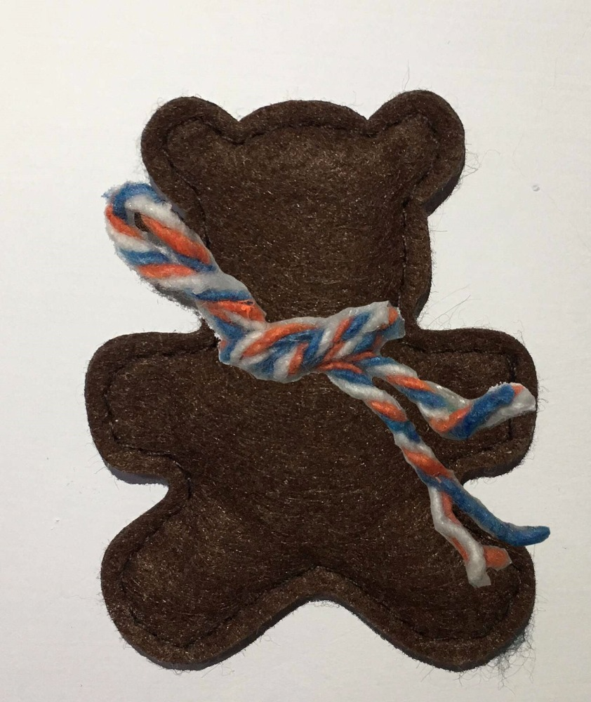 handmade gift craft bear felt christmas ornament
