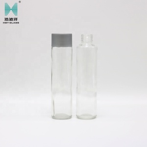 400ml voss water glass drinking bottle for fruit juice with screw cap