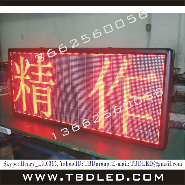 Hot sales best quality 64dots indoor led message sign