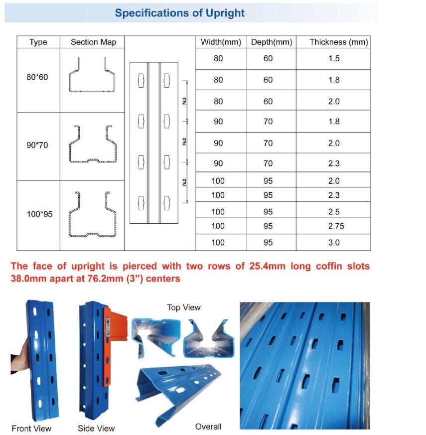 Özelleştirilmiş ağır hizmet tipi 1.5 T cam panel depolama rafları
