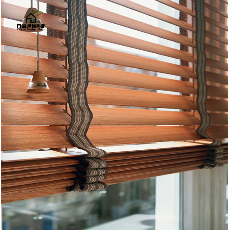 Horizontal Real Solid Japanese Wood Venetian Blinds For Home Decor