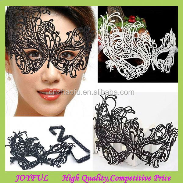 2014 Popular Sexy Black Lace Masquerade Party Masks