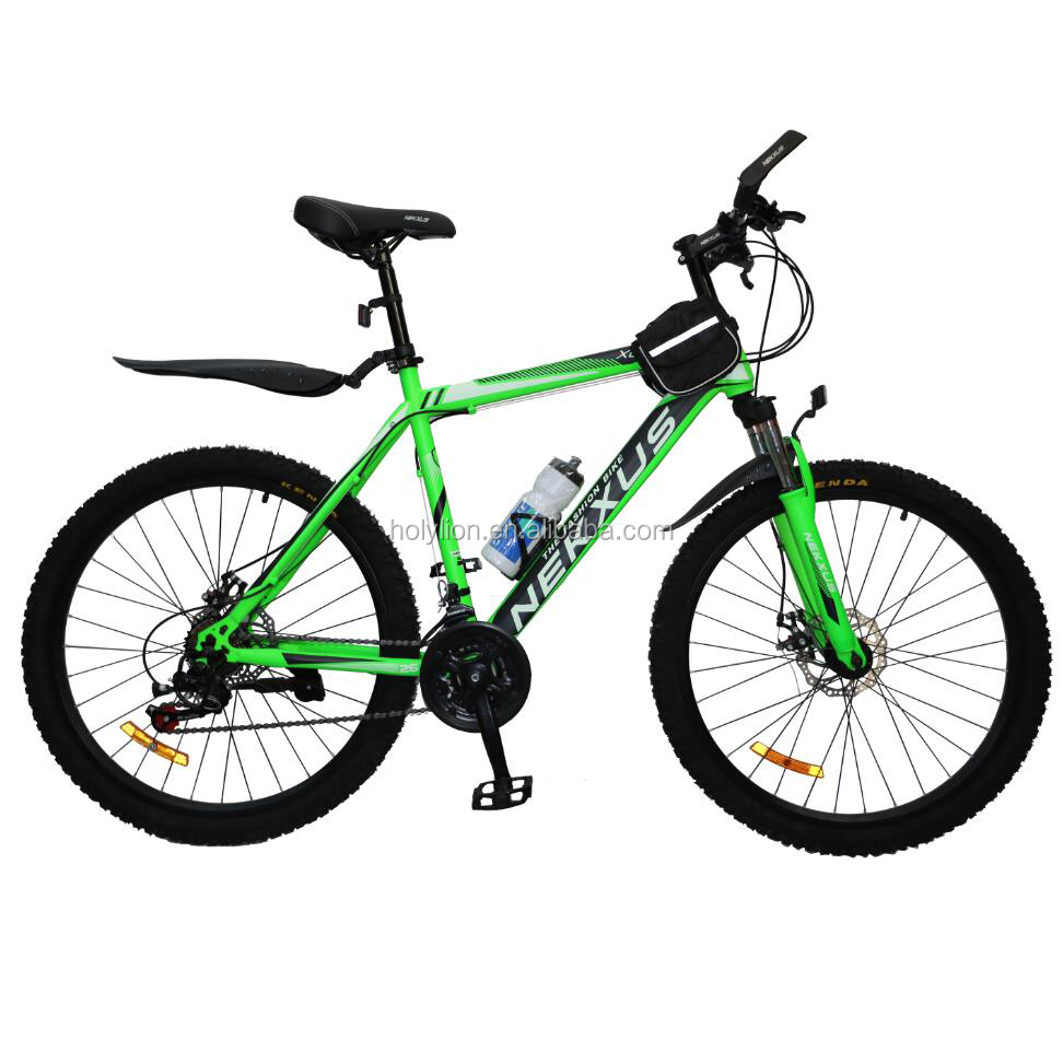 26inch COOLKI green color cheap steel mountain bike <strong>bicycle</strong>