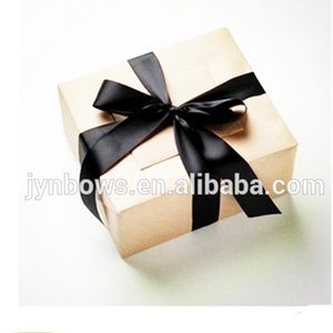 gift wrap bow black polyester box bow ribbon gift bow