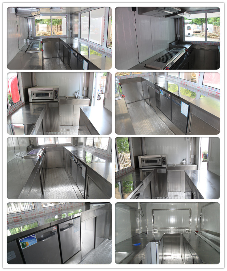 Food Truck Trailer Snack Mobile Kitchen Car With CE