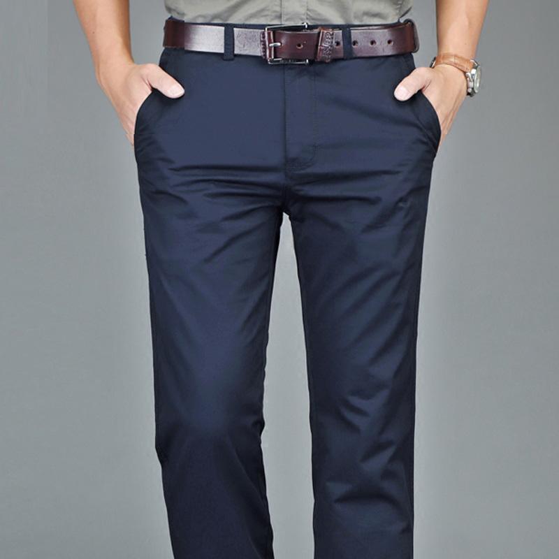 49db0e0a19444 ¡Inicia el pedido ahora! OEM Pantalón de algodón tela pantalones de los  Hombres ...