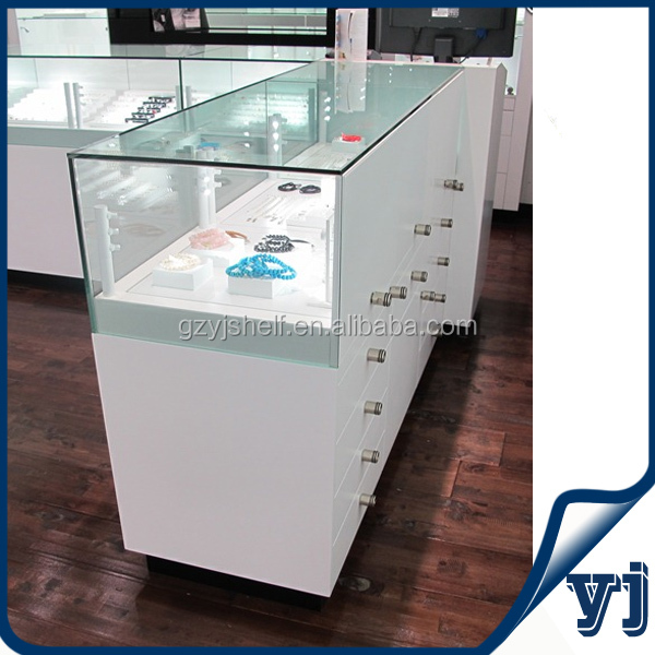 Wood Glass Living Room Showcase Design Mdf Design Wood Glass Showcase For Jewelry Exhibition And