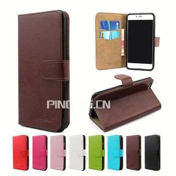 For Kazam Trooper 455 Book Style Magnetic Leather Case For Kazam ...
