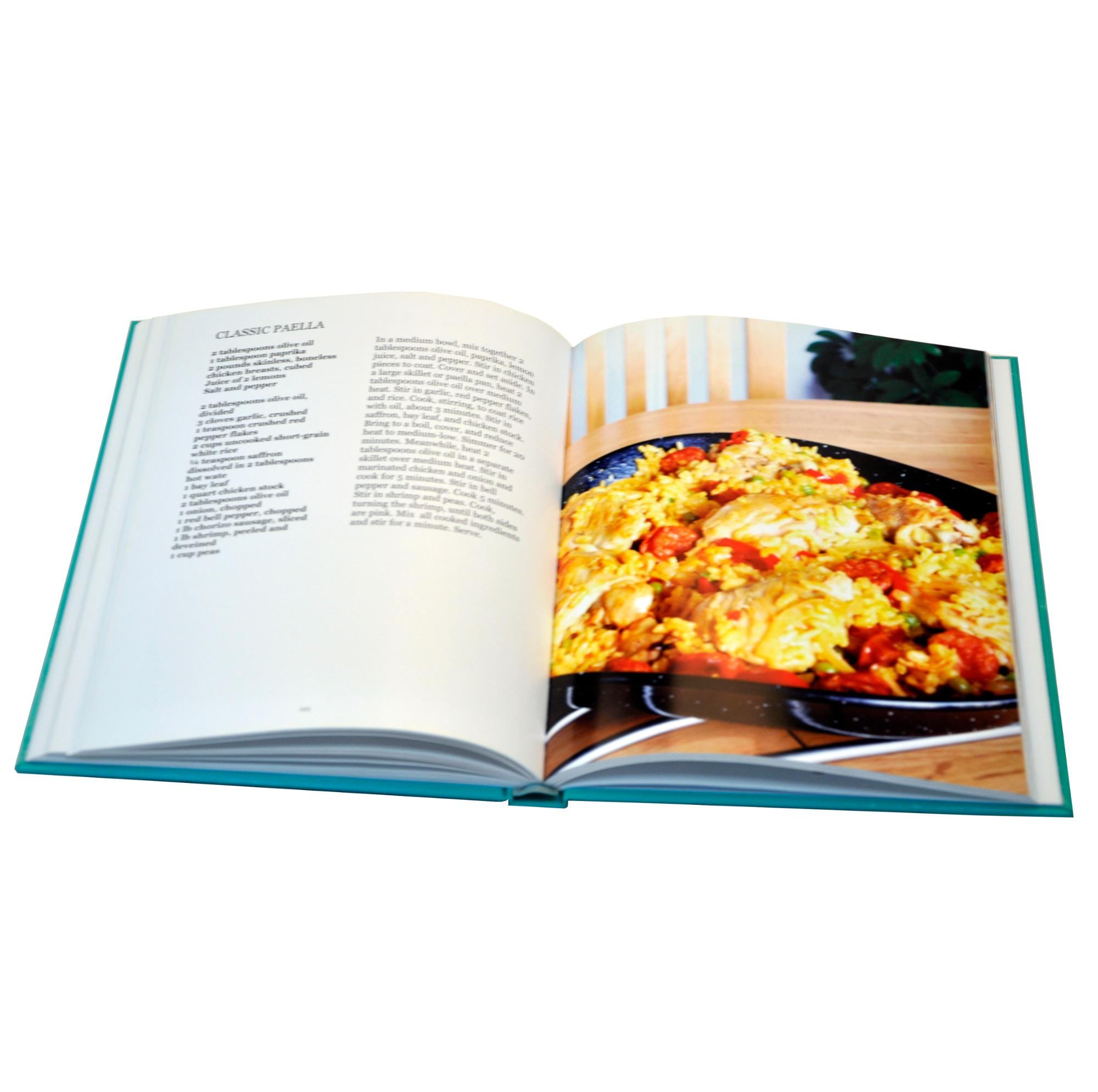 delicious food cooking book printing factory