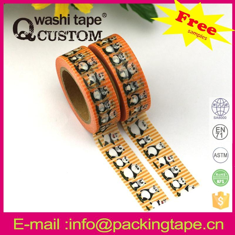Qcustom washi paper tape turkey with high quality