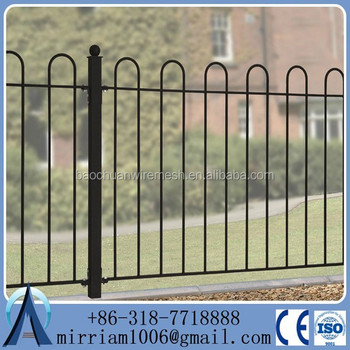Wholesale & low price galvanized black powder painted panel used steel aluminum fence