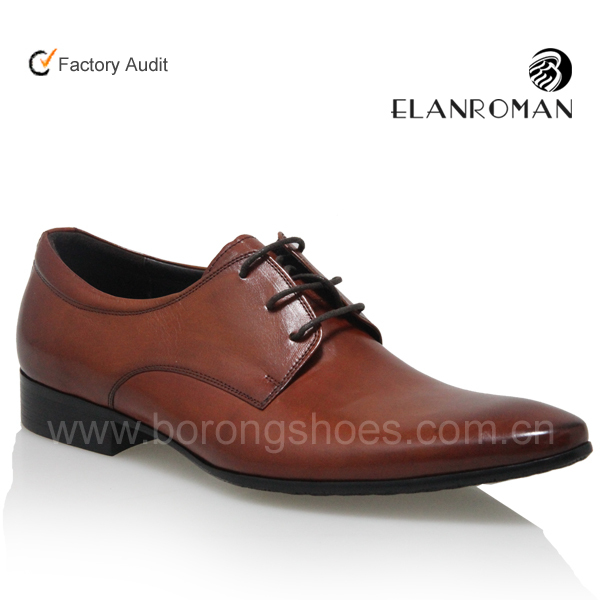 0621825581b Most comfortable derby style new model brown dress shoes for men made in  China