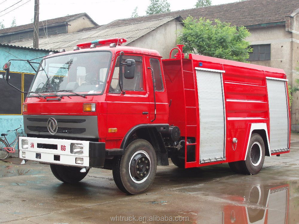 Equipped Fire fighting motor pump DongFeng fire foam truck 4*2 water tanker fire truck