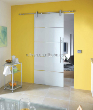 Frameless glass wall mounted sliding door hardware system for Sliding glass wall price