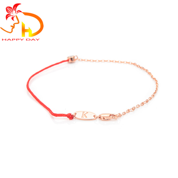 2018 Redline Jewelry Simple And Stylish Half Red String Bracelet 925 Sterling Silver Single Diamond Chain