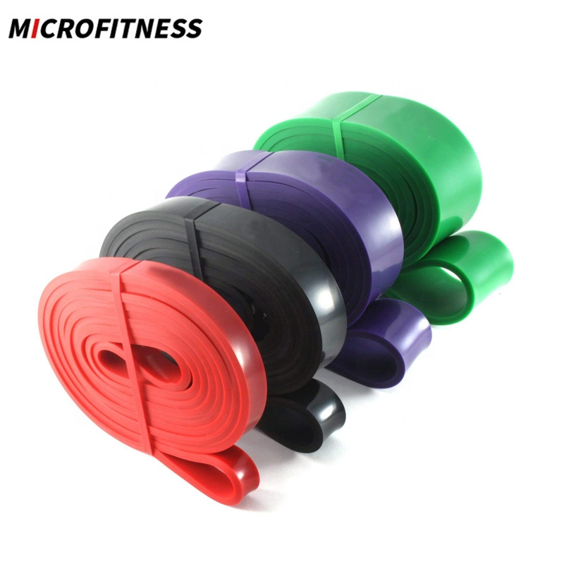 Bunte Latex Fitness Bands Übungsgurt Schleife Widerstand Pull Up Bands