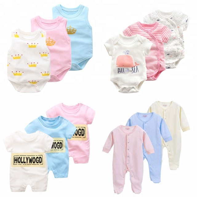 new fashion design baby onesie wholesale baby romper sets organic cotton newborn baby clothes