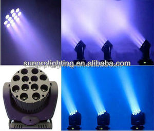 High quality 12 * 10w rgbw 4 in1 led moving head wash beam