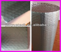 Aluminum foil and air bubble cells heat resistant materials as building insulation