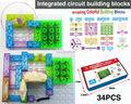 115 projects DIY Kits Integrated circuit building blocks Educatioal learning toys plastic model kits Science kids
