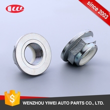 Factory new products DIN standard white zinc self-locking nylon insert flange nut
