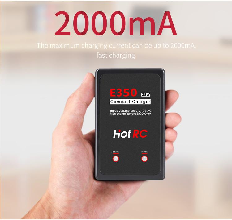 For E350 B3 7.4V 11.1V Lithium Pro Compact 2S 3S Lipo Balance Battery Charger UK