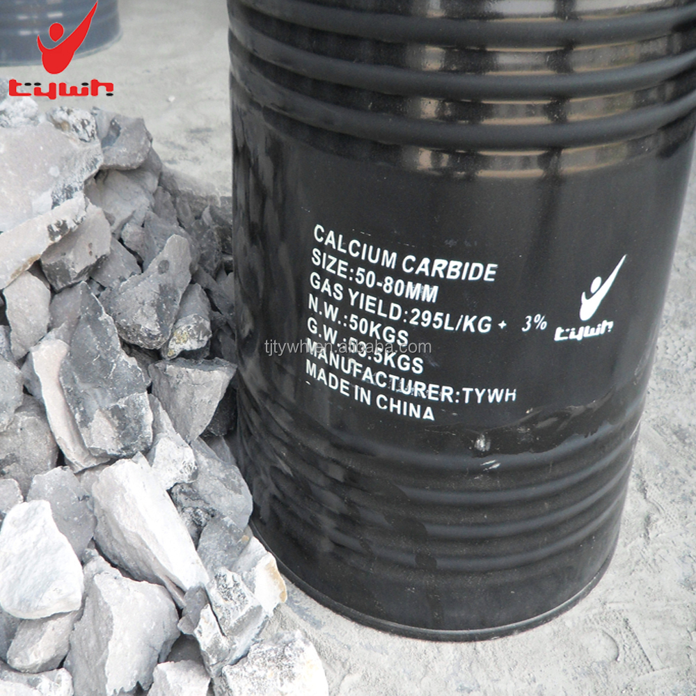 Opbrengst gas 295L/kg 50-80mm calcium carbide