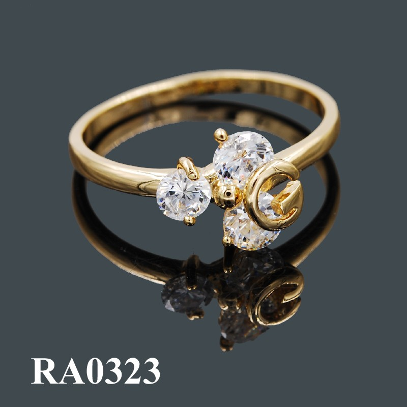 Fake Gold Ring 18k Wholesale Fashion Gold Jewelry Rings For Girls