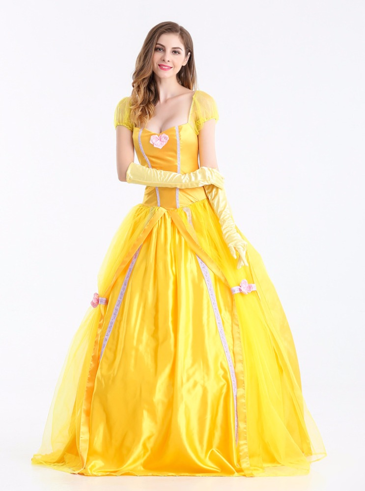 Ecoparty Belle Cosplay Costume Beauty And The Beast Adult Princess