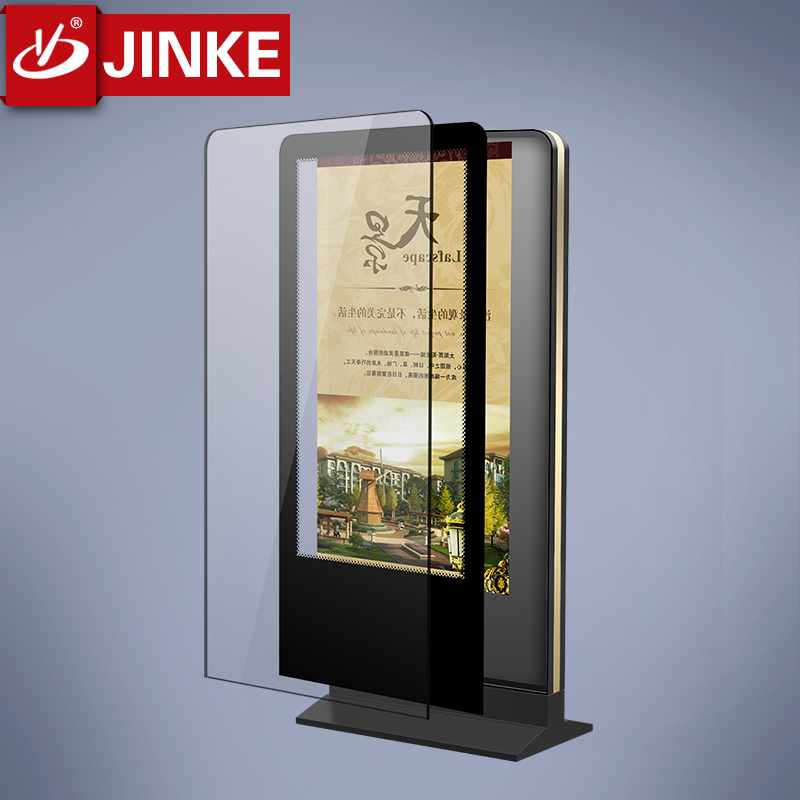OEM Firm Standing Scrolling Advertising Light Box Led Signboard For Promotion