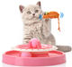 Funny Pet Toys Cat Crazy Ball Disk Interactive Amusement Plate Play Disc Turntable Cat Toy