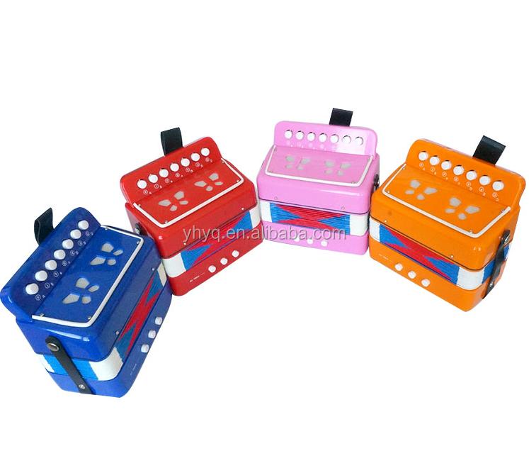 נפלאות 7 כפתור 2 בס 14 טון Junior אקורדיונים, צעצוע לילדים אקורדיון, כלי HH-03