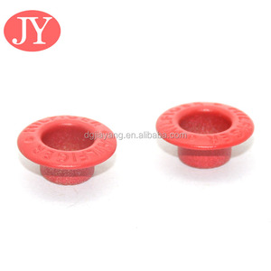Rubber coating small size metal eyelet for leather shoes