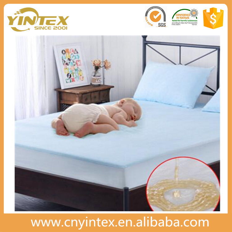 2017 spring new design waterproof breathable washable china supplier cheap pu mattress protector/cover with elastic