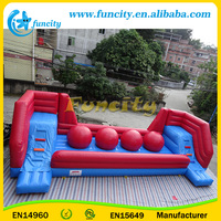 Hot Sale! EN14960 Inflatable Wipe Out Obstacle Courses/ Big Ball Game