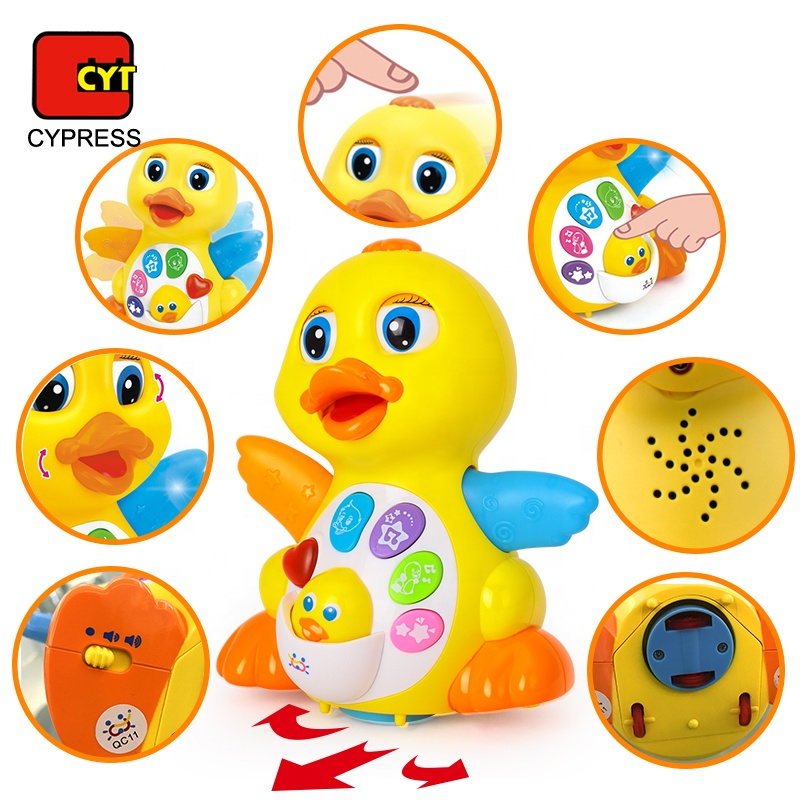 EQ Flapping Yellow Duck Brinquedos Baby Electrical Toys Music
