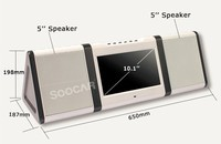 portable karaoke machine/bluetooth speaker dock station music player with calendar tf slot fm radio screen