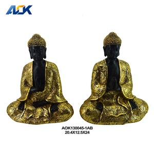 Exquisite Buddha style antique resin Buddha gold and silver