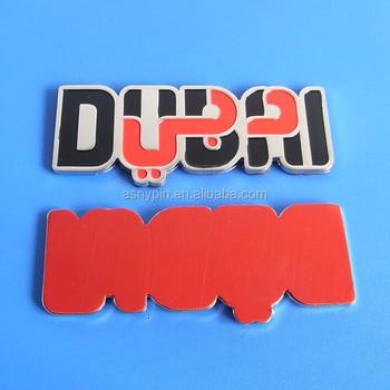 Dubai logo metal car stickers
