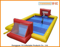 0.9mm PVC tarpaulin inflatable soap football field for hire