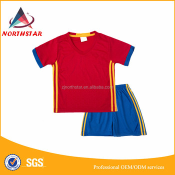 6724e5c79f6 New Style Children football team wear football uniform kids soccer jersey  with sublimation