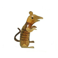 decorative mouse wooden sculpture