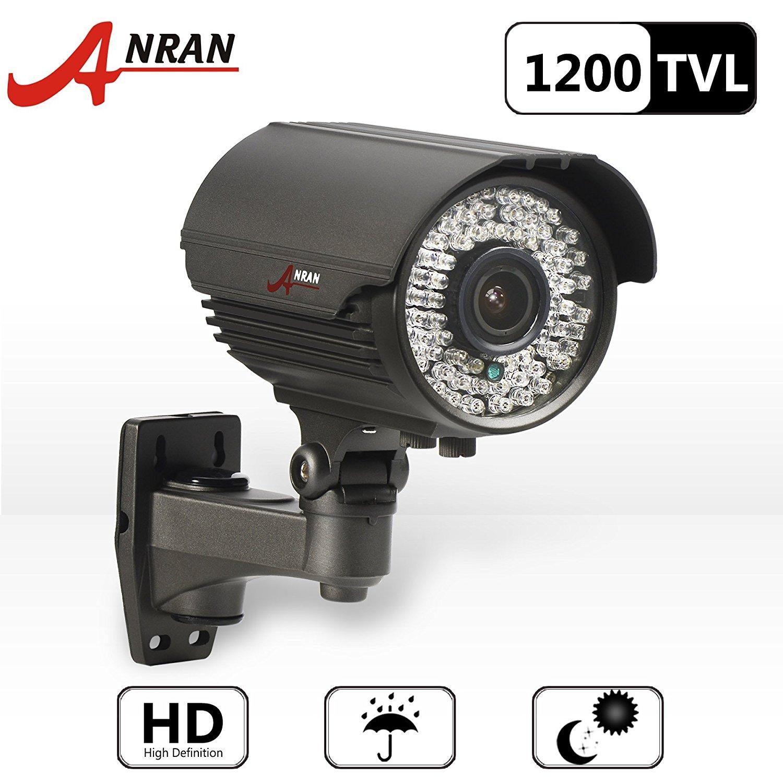 Anran 1200tvl Sony Imx138 Cmos Sensor High Resolution 78ir Leds Color Day Night Vision Infrared Security Waterproof Outdoor/ Indoor Bullet Surveillance Cctv Camera Zoom Lens 2.8-12mm