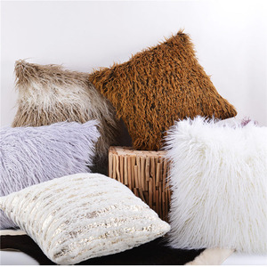 Long wool cushion,Luxury Fashion Faux Fur pillow,For Chair & Sofa