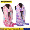 2016 hot selling 100% silk fashionable long custom beautiful girl silk scarf hangzhou supplier