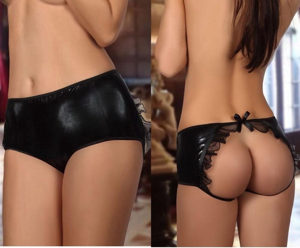 Women Plus Size Sexy Underwear Open Back Butt Backless -6504