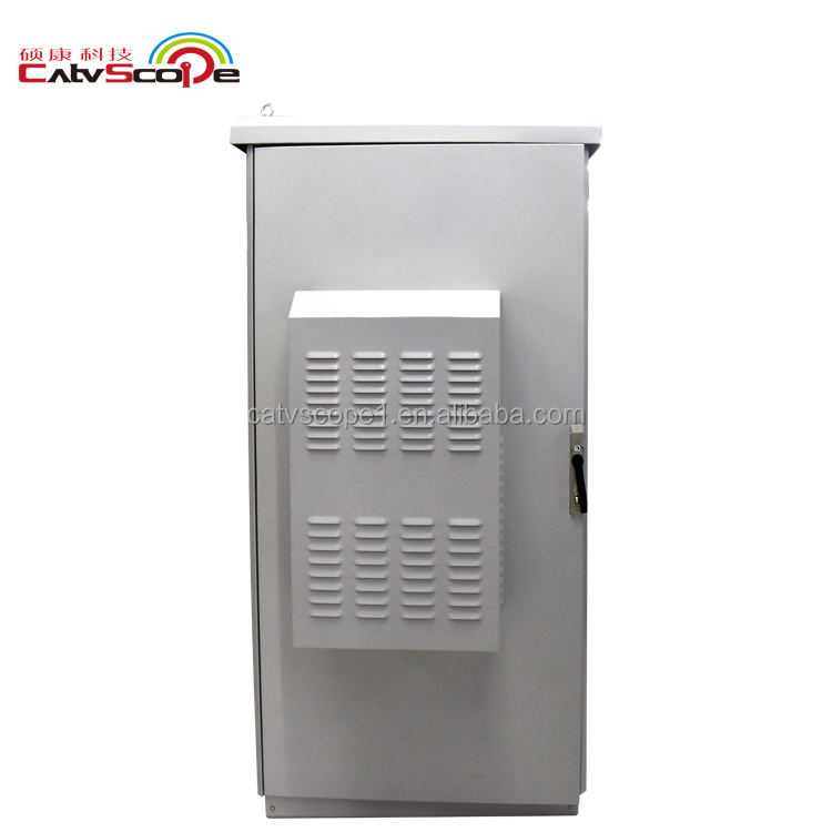 OLT Air conditioner Heater cooler Exchanger UPS Integrated Metal Waterproof Cabinet ftth Telecommunication Outdoor Equipment