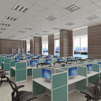 2017 Partition Cubicles Desk Equipment Office Furniture Call Center Workstation For 6 People
